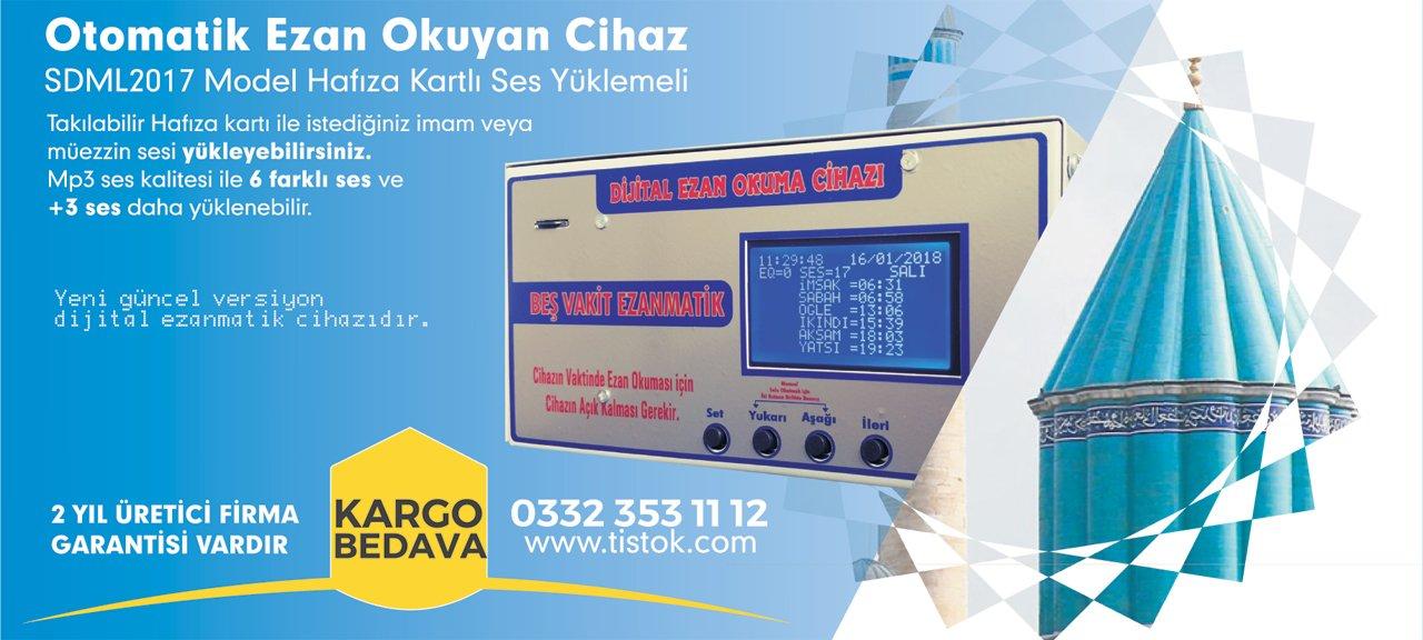 Ezanmatik cihazı Konya üretimi ve üreticisi