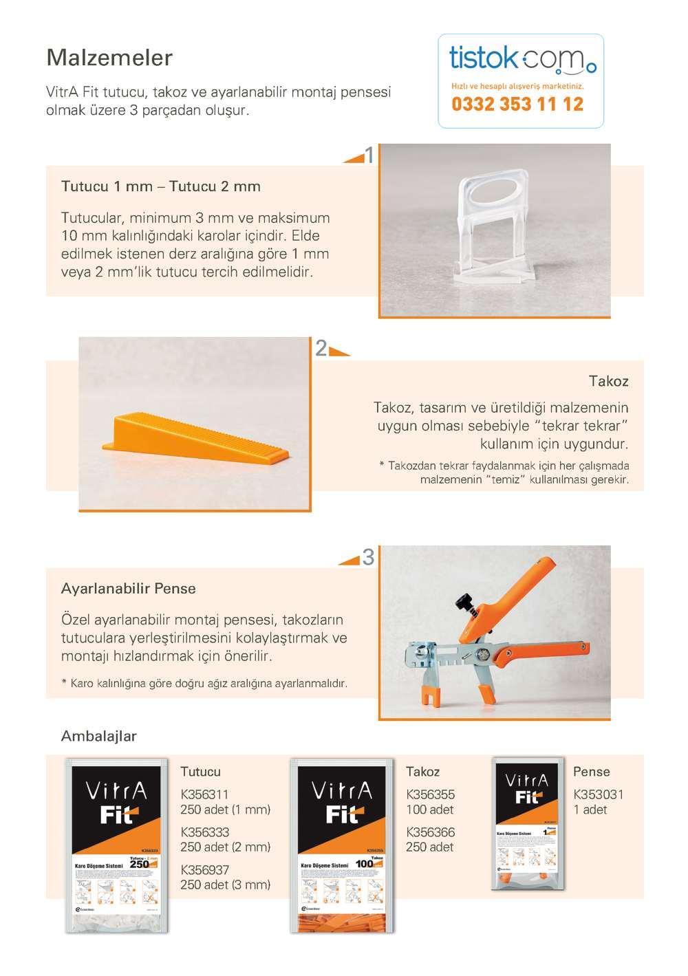 Vitra fit takozlu seramik döşeme sistemleri fiyatları toptan en ucuz